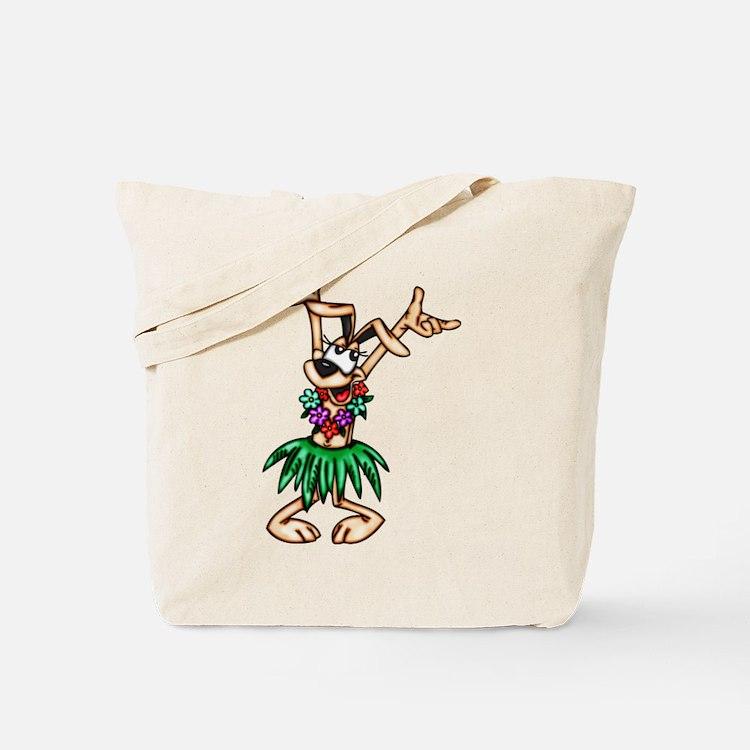 Hawaiian Cartoon Dog Tote Bag