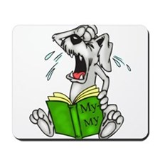 Cartoon Dog Reading Book Mousepad