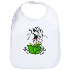 Cartoon Dog Reading Book Bib