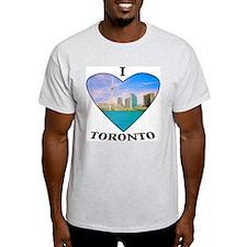 I heart Toronto Ash Grey T-Shirt