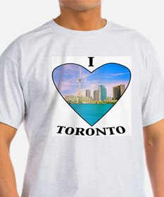 I heart Toronto Ash Grey T-Shirt