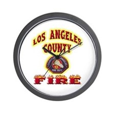 Los Angeles County Fire Wall Clock