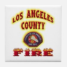 Los Angeles County Fire Tile Coaster