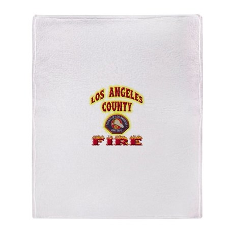 Los Angeles County Fire Throw Blanket