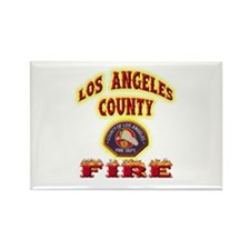 Los Angeles County Fire Rectangle Magnet (100 pack