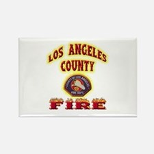 Los Angeles County Fire Rectangle Magnet