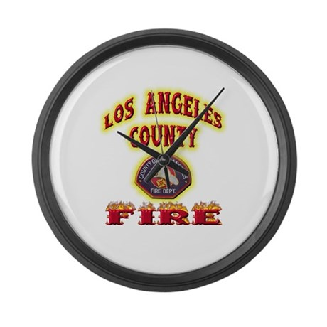 Los Angeles County Fire Large Wall Clock