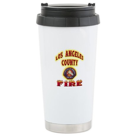 Los Angeles County Fire Stainless Steel Travel Mug
