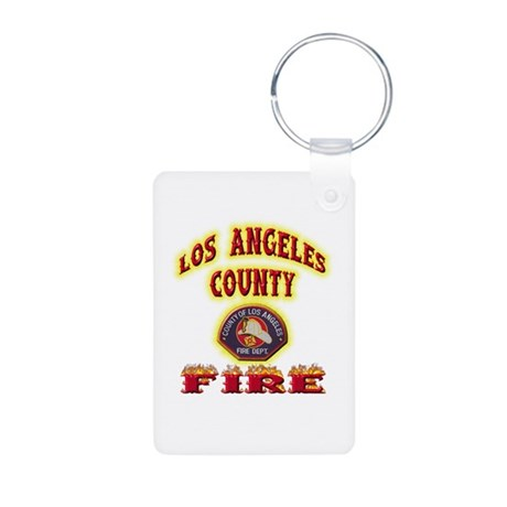 Los Angeles County Fire Aluminum Photo Keychain