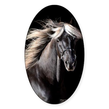 Chocolate Rocky Mtn Horse Sticker (Oval 10 pk)