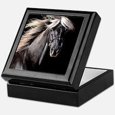 Chocolate Rocky Mtn Horse Keepsake Box