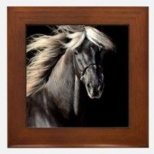 Chocolate Rocky Mtn Horse Framed Tile