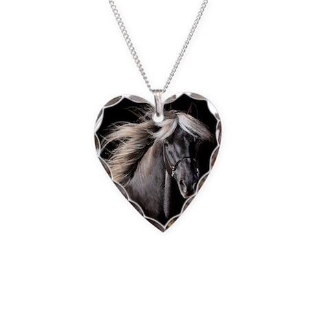 Choco Rocky Mountain Horse Necklace Heart Charm