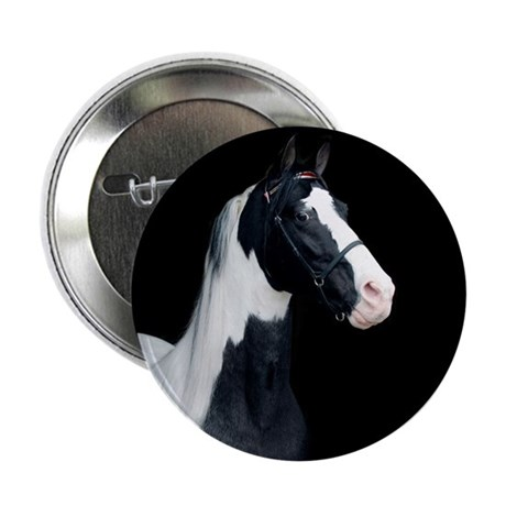 """Spotted Horse 2.25"""" Button"""