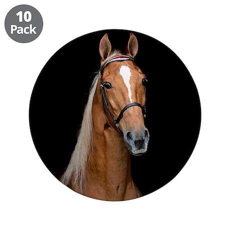 "Sorrel Horse 3.5"" Button (10 pack)"