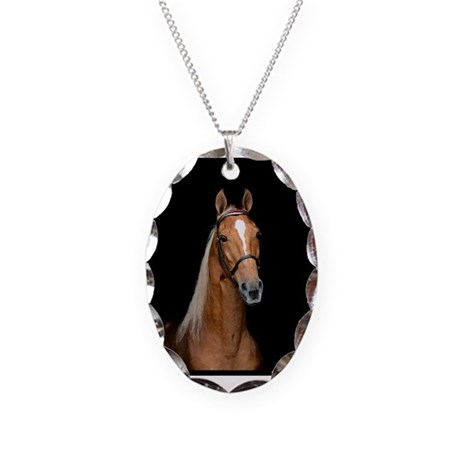 Sorrel Horse Necklace Oval Charm