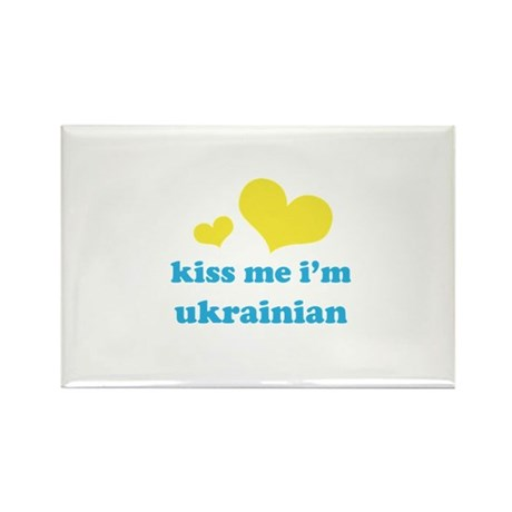Kiss Me I'm Ukrainian Rectangle Magnet (10 pack)