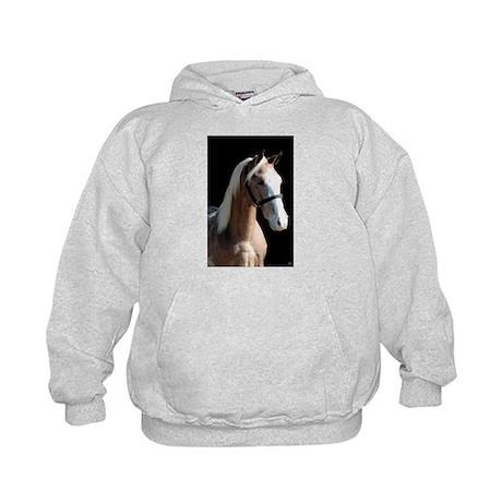Red Roan Dun Horse Kids Hoodie