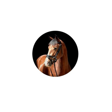Bay Mare Mini Button