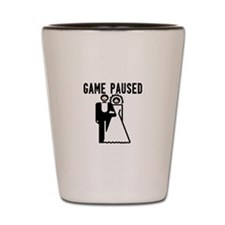 Game Paused Shot Glass