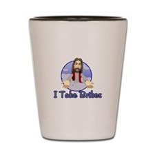 Bribe Jesus Shot Glass