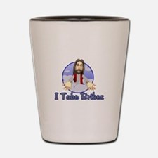 Bribe Jesus Shot Glass