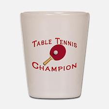 Table Tennis Champion Shot Glass