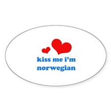 Kiss Me I'm Norwegian Decal