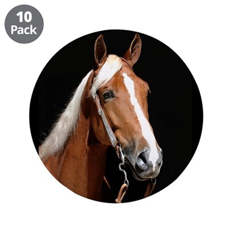 "Chestnut Horse 3.5"" Button (10 pack)"