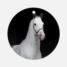 Dapple Gray Horse Ornament (Round)