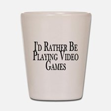 Rather Play Video Games Shot Glass