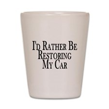 Rather Restore Car Shot Glass