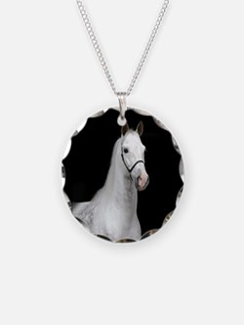Dapple Gray Horse Necklace