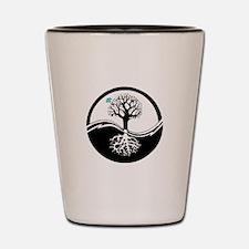 Yin Yang Tree Shot Glass
