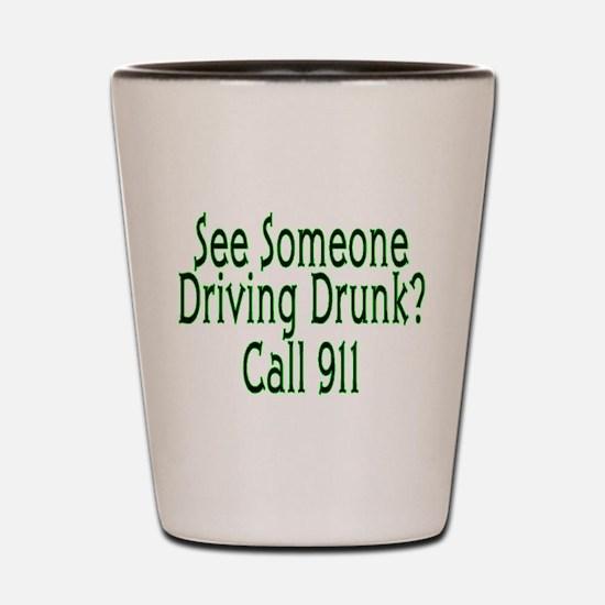 Call 911 Shot Glass