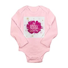 Savvy Auntie Long Sleeve Infant Bodysuit