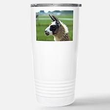 Patchwork Brown Llama Travel Mug