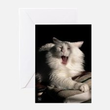 Tired Cat Greeting Card