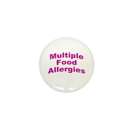 Multiple Food Allergies Mini Button