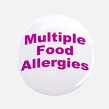 "Multiple Food Allergies 3.5"" Button"