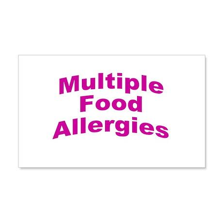 Multiple Food Allergies 22x14 Wall Peel