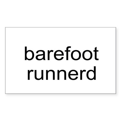 Barefoot Runnerd Sticker (Rectangle)