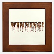 Winning! Framed Tile