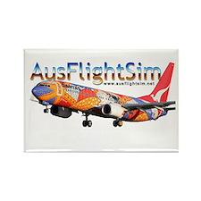 AusFlightSim Rectangle Magnet