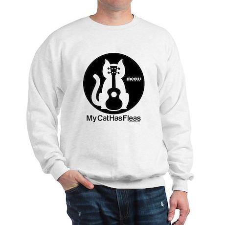 My Cat Has Fleas Ukulele Sweatshirt