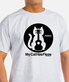 My Cat Has Fleas Ukulele T-Shirt