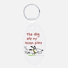 the dog ate my lesson plans! Keychains