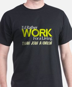 I'd Rather Work for a Living Than Join Union Drk T