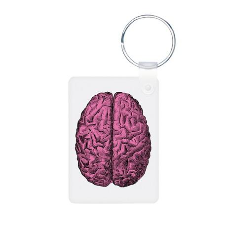 Human Anatomy Brain Aluminum Photo Keychain