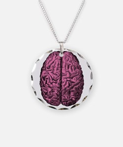 Human Anatomy Brain Necklace